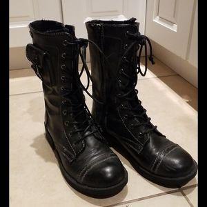 Roxy combat moto boots